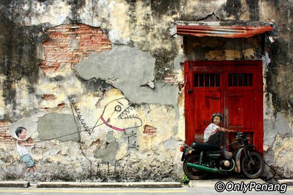 Tempat-Menarik-di-Penang-Penang-Art-Street
